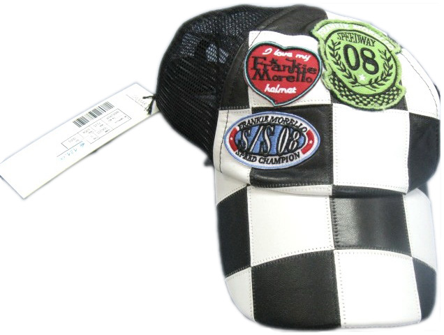 Frankie   Morello Mens Chequered Flag Black Racing Cap