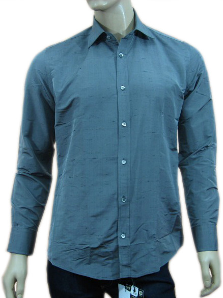 Daniele Alessandrini Mens Grey Button Down Long Sleeved Shirt