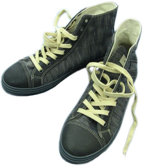 Hogan Mens Denim High Top Sneaker Shoes