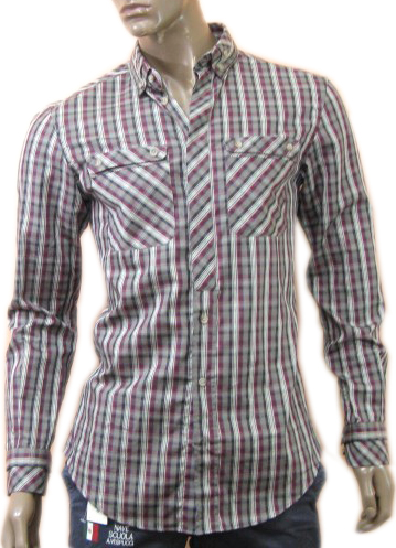 Dolce & Gabbana D&G Mens Chequered Long Sleeve Shirt