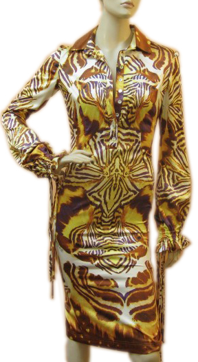 Roberto Cavalli Just Cavalli Tiger Print Collar Dress :  roberto cavalli just cavalli tiger print collar dress tiger fashion roberto cavalli