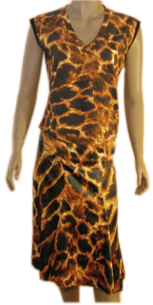 Just Cavalli Womens Tiger Print Top & Skirt Ensemble :  just cavalli womens tiger print top amp skirt ensemble