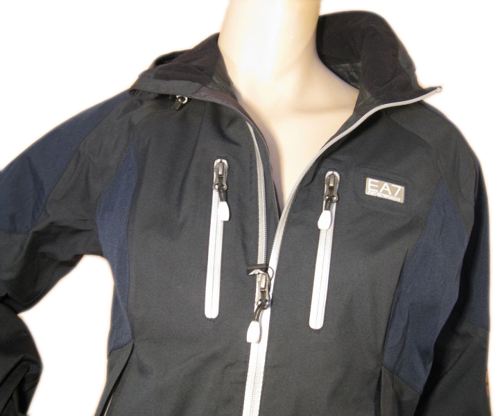 Emporio Armani EA7 Womens Navy Nylon Rain Coat Jacket