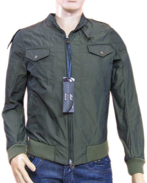 Daniele Alessandrini Mens Green Windbreaker Jacket