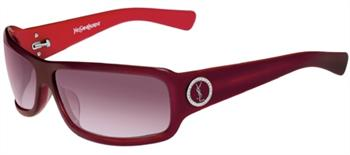 Yves Saint Laurent Womens 6113 Strass BSL MD Burgundy Red Sunglasses