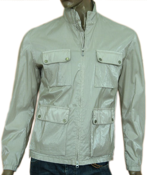 Belstaff Mens Grey Military Inspired Windbreaker Jacket