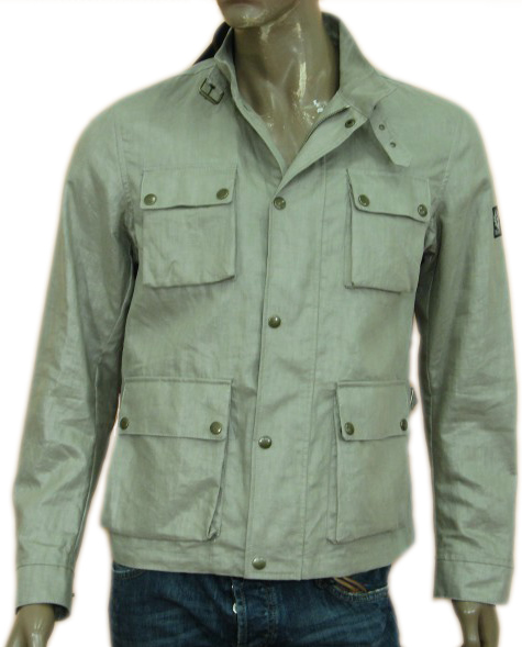 Belstaff Mens Beige Military Inspired Blazer Jacket