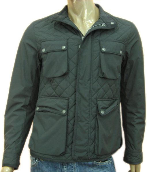 Belstaff Mens Black Windbreaker Jacket