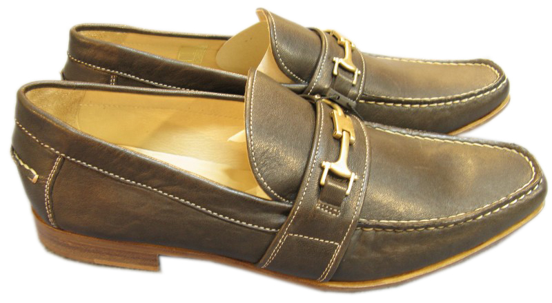 Dolce & Gabbana D&G Mens Brown Leather Moccasin Shoe