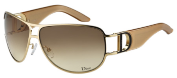 Christian Dior Womens Precoll 2 KAR Gold Beige Sunglasses
