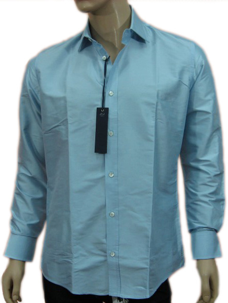 Daniele Alessandrini Mens Blue Button Down Long Sleeved Shirt