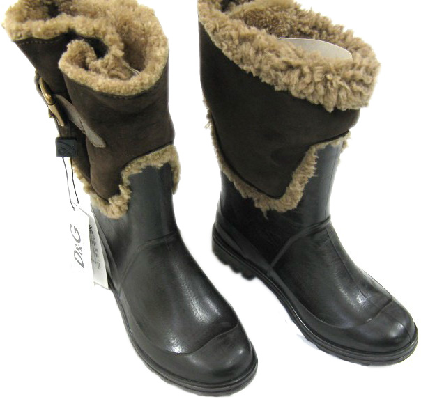 Dolce & Gabbana D&G Mens Brown Leather Mountain Boots