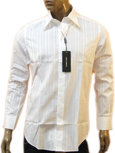 Dolce & Gabbana D&G Elegance Mens White Formal Dress Shirt :  dolce amp gabbana dampg elegance mens white formal dress shirt
