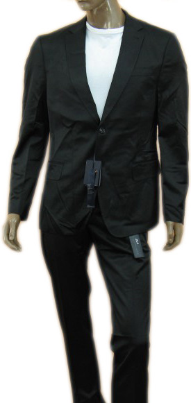 Daniele Alessandrini Mens Black Slim Fitted Blazer Jacket