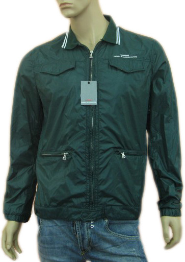 Daniele Alessandrini Mens Green Zippered Jacket