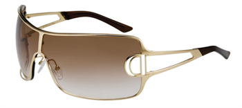 Christian Dior Womens issimo 2 Gold Brown Sunglasses