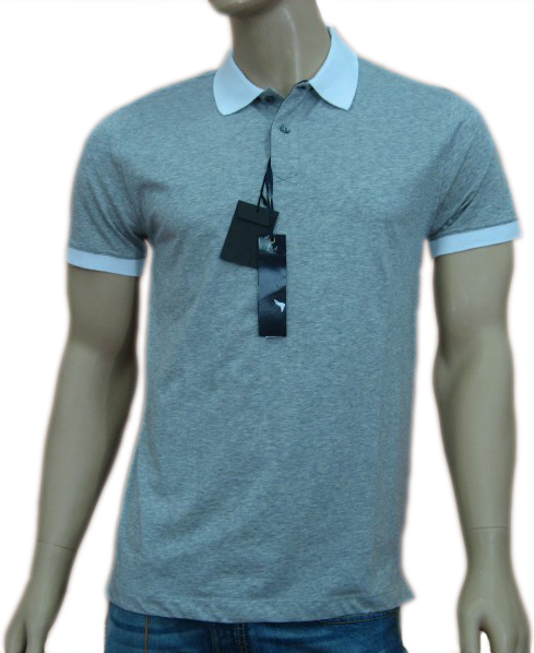 Daniele Alessandrini Mens Grey Fitted Polo Shirt
