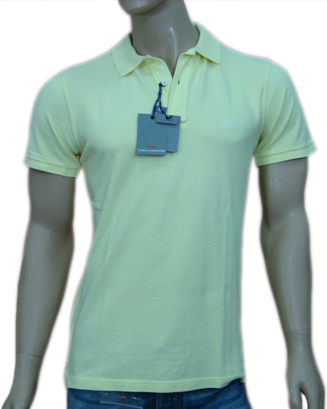 Daniele Alessandrini Mens Yellow Slim Fitted Polo Shirt from niftyfits.com