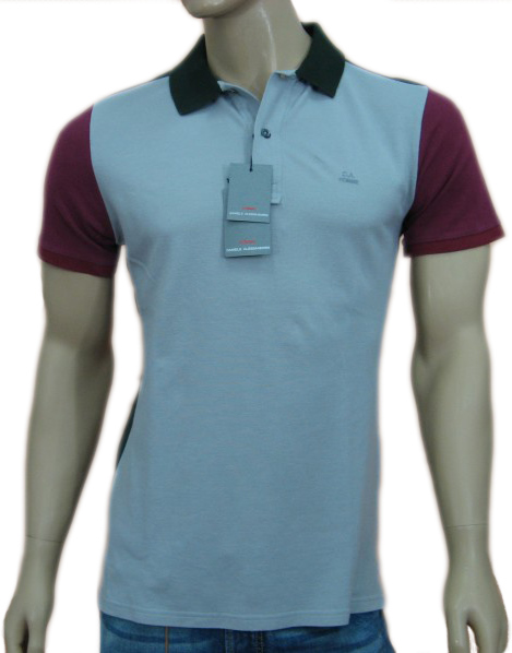 Daniele Alessandrini Mens Grey Slim Fitted Polo T-Shirt