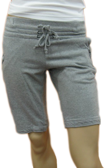 Daniele Alessandrini Mens Grey Drawstring Cotton Shorts