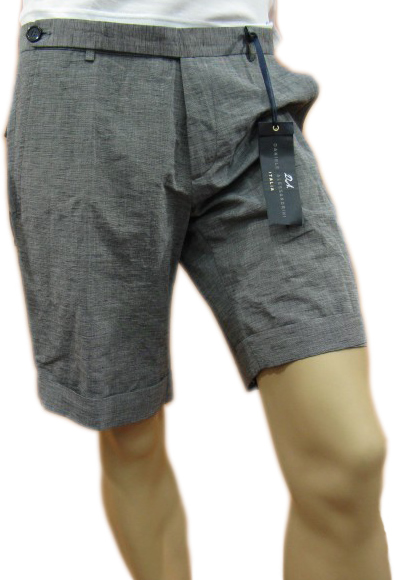 Daniele Alessandrini Mens Grey Knee Length Bermuda Shorts