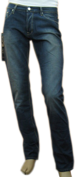 Daniele Alessandrini Mens Denim Slim Faded Jeans