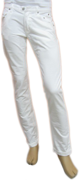 Daniele Alessandrini Mens White Slim Fitted Pants