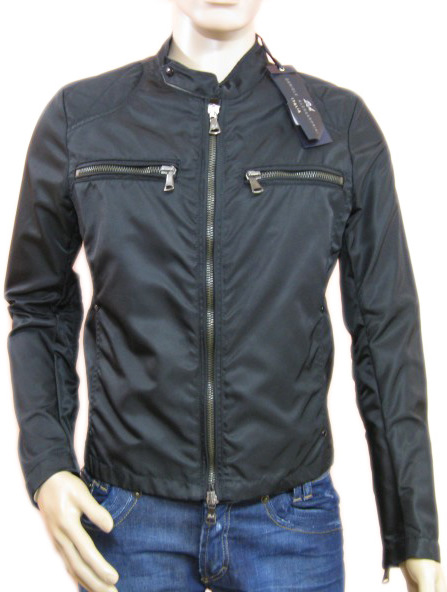 Daniele Alessandrini Mens Black Windbreaker Jacket